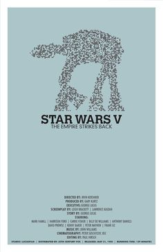 Star wars Episode V The Empire Strikes Back poster by balancedpersonality #Star_Wars