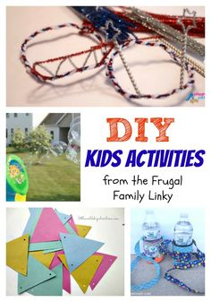 Frugal DIY activities for Kids featuring our DIY Patriotic Liberty Crowns and Homemade Bubbles