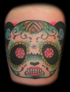 World Of Warcraft Panda Tattoo | panda day of the dead muertos tattoo tattoos by jr linton at hellcat ...