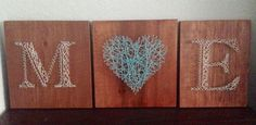 String Art, Initials & Heart, Wedding Decor, Made to Order by ElysianCustomCrafts on Etsy
