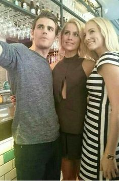 Paul Wesley, Claire Holt, and Candice Accola in China for #WizardWorldFansTangComicCon