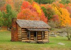 Fall Log Cabin