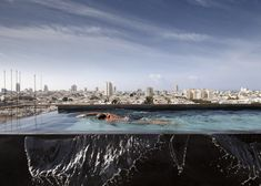Tel Aviv Penthouse featuring an infinity pool overlooking the city.