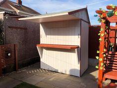 This garden bar doubles up as a shed over winter garden bar