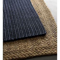hida braided border abaca rug | CB2