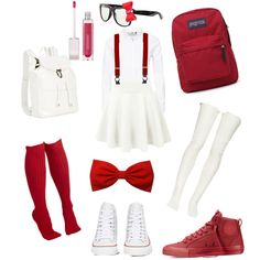 Back To School: High School Musical Taylor McKessie by jstargdq on Polyvore featuring polyvore fashion style ONLY Sacai Luck Converse Illesteva JanSport Brooks Brothers