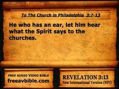 #66. Revelation Chapter 3 New International Version NIV Free Audio Video AV Bible Read Along