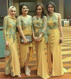 Appliques Bridesmaid Dresses,Lace Bridesmaid on Luulla Dress Brukat, Hijab Dress Party, Batik Dress, Lace Dress, Kebaya Modern Dress, Kebaya Dress, Dress Pesta, Abaya Fashion, Fashion Dresses