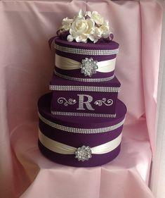Wedding cards box purple wedding card box by Thatssolovely on Etsy Card Box Wedding, Wedding Guest Book, Plum Wedding, Wedding Ideas, Trendy Wedding, Diy Wedding, Wedding Planning, Dream Wedding, Wedding Makeup Tutorial
