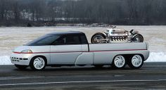 1989 Chrysler Voyager III concept with Dodge Tomahawk by Gilbertson