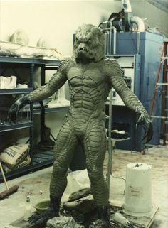 """Steve Wang & Matt Rose's """"Gillman"""" monster suit sculpture based on Stan Winston's design."""