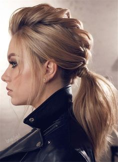 45 Gorgeous Winter Hairstyles For Long Hair - Hair & Beauty - Hairdos Ideas Cool Braid Hairstyles, Winter Hairstyles, Pretty Hairstyles, Easy Hairstyles, Hairstyle Ideas, Latest Hairstyles, Wedding Hairstyles, Rock Hairstyles, Hairstyles 2016