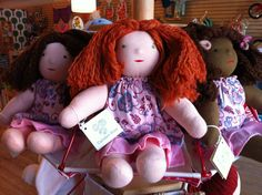 Waldorf Dolls available at Peapods Natural Toys.