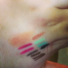 This is what happens when you go makeup shopping! Swatches everywhere~