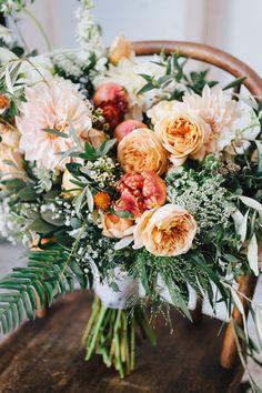 Read More on SMP: http://www.stylemepretty.com/california-weddings/2015/04/22/peach-rustic-boho-wedding-inspiration/