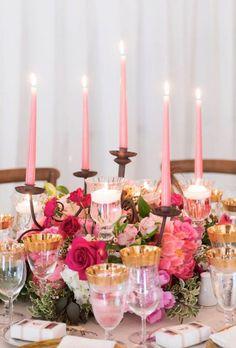 Wedding reception centerpiece idea; Featured Photographer: 5ive15ifteen Photo Company