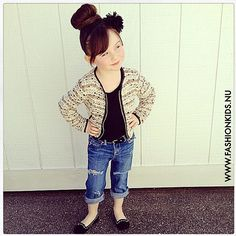 Goes to show that your never too young to keep up with todays fashion.