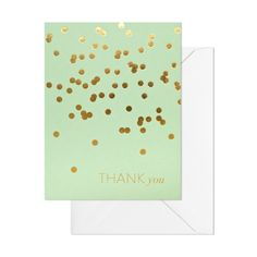 Gorgeous mint & gold Thank You cards via Sugar Paper LA