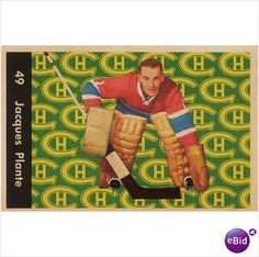 Jacques Plante Parkhurst Montreal Canadiens HOF # 49 EX Montreal Canadiens, Canada, Hockey Games, Nhl, Baseball Cards, Sports Teams, Big Time, Athletes, Basketball