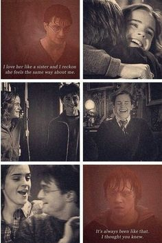 Harry on his relationship with hermione