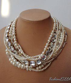 Fashion Women/'s Crystal Chunky Choker Collier Déclaration Bavoir Collier Bijoux Cadeau