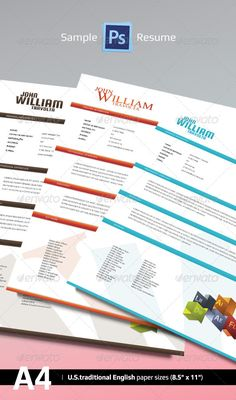 """Sample PS Resume  #GraphicRiver        SAMPLE PS RESUME – 1.0   Sample PS Resume is a practical editable CV to create business opportunities for your job, friends or family.   Very fast Customization!  How To Use Open the """"Sample PS Resume"""" file on Photoshop, go to Folders, click Show & Hide Resume Folders and edit to your content.   Any further question, feel free to contact us!  Additional Info   Print Dimensions:   - 210 mm X 297 mm / 8.27 in. X  11.69 in.  (International Metric Paper Size – ISO Standard)   - Bleed: 0,25 inch  Fonts Used   Blue Pack   - Logo   .google /fonts/specimen/Squada+One   - Menus & Content   .google /fonts/specimen/Ubuntu     Brown Pack   - Logo   .google /fonts/specimen/Squada+One   - Menus & Content   .google /fonts/specimen/Ubuntu     Red & Orange Pack   - Logo  Times New Roman – System Font (Mac/Windows)   - Menus & Content   .google /fonts/specimen/Ubuntu  Thank you for use it! If you like, please don't forget to rate!         Created: 16October13 GraphicsFilesIncluded: PhotoshopPSD #TransparentPNG #JPGImage Layered: Yes MinimumAdobeCSVersion: CS5 PrintDimensions: 8.5x11 Tags: a4 #blue #brown #business #classic #clean #curriculum #curriculumvitae #cv #job #letter #orange #photoshop #premium #print #red #resume #simple #vitae #work"""