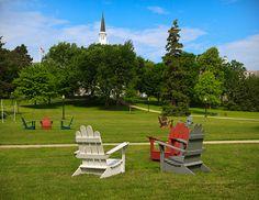 middlebury college, adirondack chairs