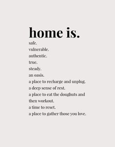 Home Is Printable - Glisten & Grace