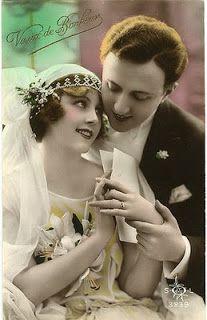 Click on image to make larger before saving.. lovely vintage images....Vintagekuvia kevään häät/romanssit -haasteeseen