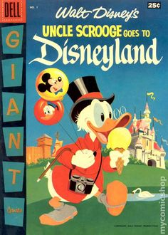 UNCLE SCROOGE GOES TO DISNEYLAND 1, SILVER AGE DELL COMICS