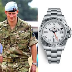 Prince Harry seen wearing a Rolex Explorer II with white dial ( Rolex Explorer Ii, Prinz Harry, Prince, Steve Mcqueen, Rolex Datejust, Watches For Men, Men's Watches, Luxury Watches, Travel Pictures