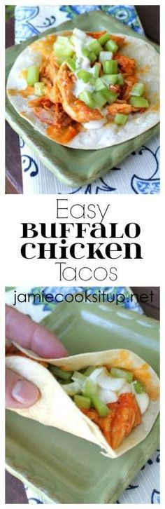 Easy Buffalo Chicken Tacos from Jamie Cooks It Up! by lucinda