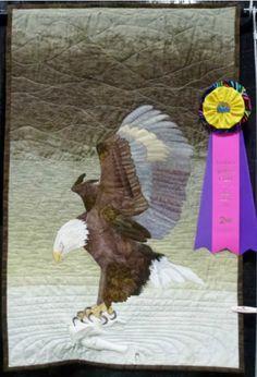 Bald Eagle in Flight by Lorette Dickson