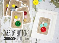 Love the idea of hand drawn jar with buttons inside.