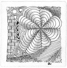 Zentangle 14: Dyon. Keeko, Chainging et al.