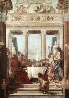 The Banquet of Cleopatra - Giovanni Battista Tiepolo.  1746-47.  Fresco.  650 x 300 cm.  Palazzo Labia, Venice, Italy.