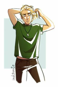 Magnus with ponytail