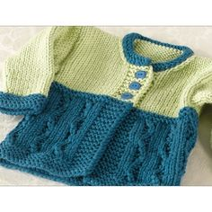 Valley Yarns 257 Cold Spring Baby Cardigan (Free)