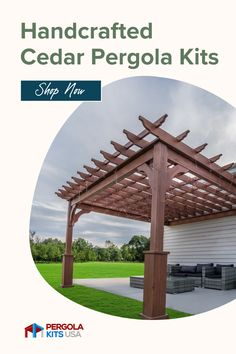 Our Cedar Pergola Kits are a great way to make your patio look amazing! You can customize these and make them fit any space, plus they are easy to assemble. #pergolas #patiomakeover #premadepergolas Cedar Pergola Kits, Diy Pergola, Outdoor Dining, Outdoor Decor, Patio Makeover, Backyard Retreat, Western Red Cedar, Pergola Designs, Decking