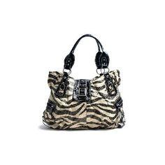 Zebra Sparkle Handbag found on Polyvore