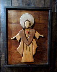 Wood Crafts, Diy And Crafts, Intarsia Wood Patterns, Wooden Christmas Crafts, Catholic Altar, Wooden Toy Cars, Scroll Saw, Christian Art, Clay Art