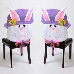 Easter Bunny Girls Chair Cover, Set of 2 #kirklands #seasonaldecor #Easter #bunny
