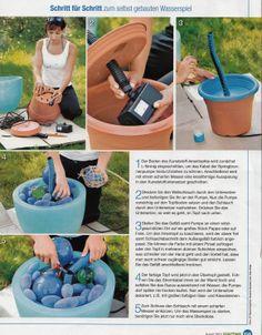 Gartenbrunnen Aus Blumentopf selberbauen