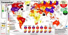 Coronavirus pandemic 25 March, World Health Organization, Wuhan, Maps, Corona, Legends, Blue Prints, Map, Cards