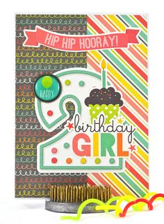Hip hip hooray, someone's turning two today! Celebrate the occasion with this sweet and cheerful 2nd birthday card. #thecardkiosk