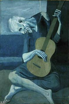 """Picasso's """"The Old Guitarist""""... from his Blue Period"""