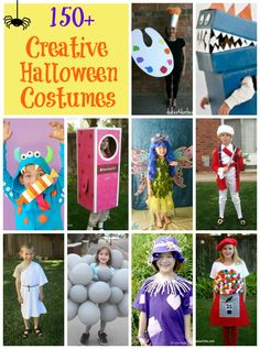 Homemade costumes are the best! No matter what your crafting ability level, you'll find a costume idea here at Fun … Creative Halloween Costumes, Halloween Kids, Recycled Costumes, Scary Haunted House, Recycled Crafts Kids, Monster Costumes, Homemade Halloween Costumes, Costume Works, Family Crafts