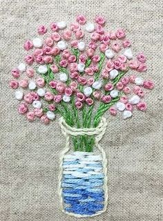 Wonderful Ribbon Embroidery Flowers by Hand Ideas. Enchanting Ribbon Embroidery Flowers by Hand Ideas. Hand Embroidery Tutorial, Simple Embroidery, Hand Embroidery Stitches, Learn Embroidery, Silk Ribbon Embroidery, Embroidery Hoop Art, Hand Embroidery Designs, Embroidery Techniques, Cross Stitch Embroidery