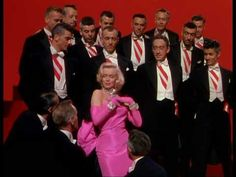 "Marilyn Monroe singing 'Diamonds are a Girl's Best Friend' in ""Gentlemen Prefer Blondes"" (1953)"