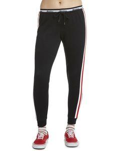 78533e0d106bf Dickies Girl Juniors  Side Stripe Elastic Logo Jogger Pants - Black (BK)  Jogger